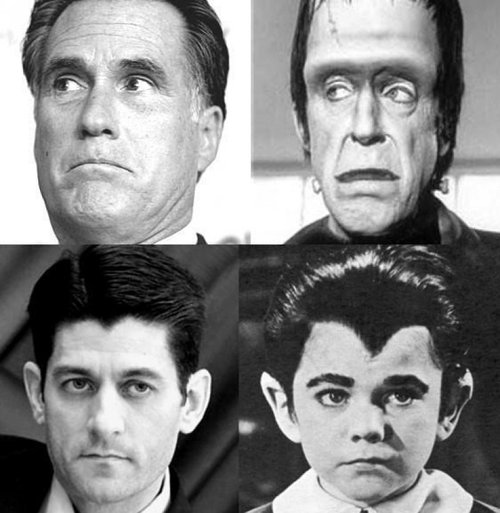 Now It All Makes Sense….Mitt Romney Is Herman Munster ...