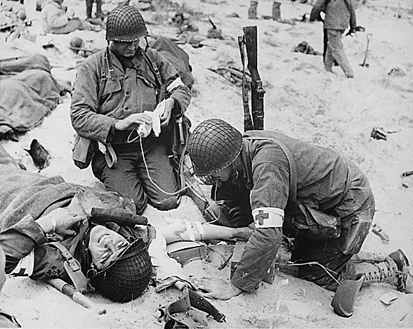 d-day injured